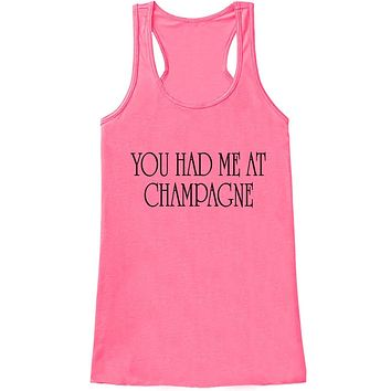 Custom Party Shop Women's You Had Me at Champagne New Years Tank Top