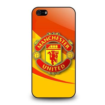 manchester united iphone 5 5s se case cover  number 1