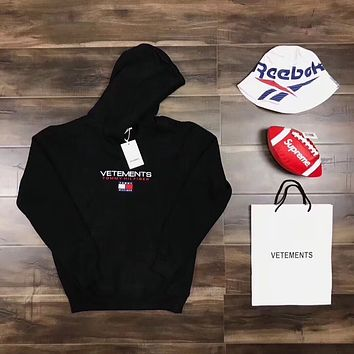 VETEMENTS & Tommy Hilfiger  Women/Men Hot Hoodie Cute Sweater