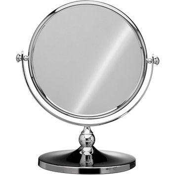 Elegant Round Table Top Double Sided Cosmetic Makeup Magnifying Mirror