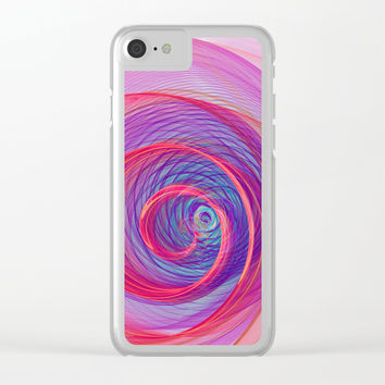 Ring Nebula Clear iPhone Case by Virtualkee