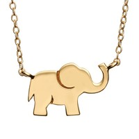 Gold Tone Sterling Silver Elephant Necklace