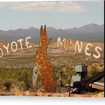 The Coyote Mine Canvas Print