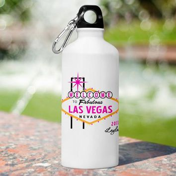 Vegas Water Bottle - Pink