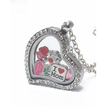 Heart Charm Locket for Mother's Day
