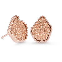 Kendra Scott: Tessa Stud Earrings In Rose Gold Drusy