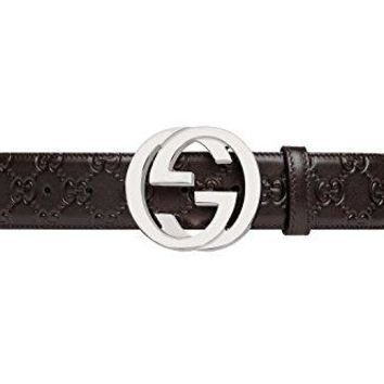 GUCCI - Leather Belt for Men SIGNATURE (411924CWC1N2140)