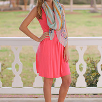 Perfect Pocket Tank Dress,Coral
