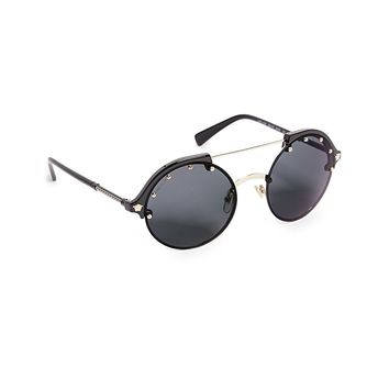 Versace Women's Round Aviator Sunglasses