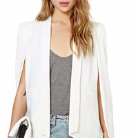 Open Front Cape Sleeve Cardigan