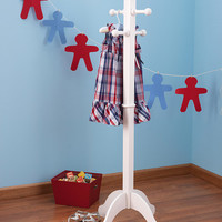 White Deluxe Clothing Pole