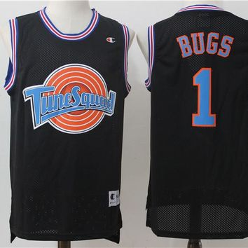 Best Sale Online Space Jam Movie Jersey # 1 Bugs Bunny Black