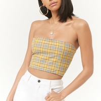 Plaid Tube Top