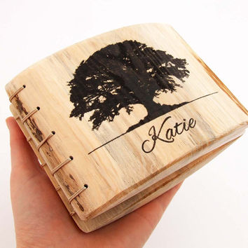 Personalized Journal. Unique gift. Oak tree print. PERSONALIZED Notebook. Personalized Diary. Custom Notebook. Eco friendly planner