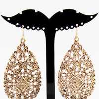 Fashion Vintage Gold Hollow Out Earring