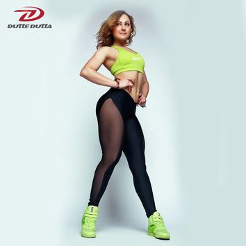 Women Fitness Gym Mesh Patchwork Push Up Pants Athletic Leggings Sport Clothing Yoga Pant Running Tights Sportswear Trousers