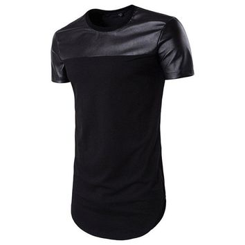 Two Tone Colors Men Longline Shirts Extra Long Oversized Tall Tees