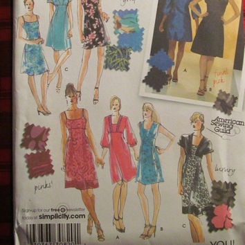 SALE Uncut Simplicity Sewing Pattern, 3676! 6-8-10-12-14 Small/Medium/Women's/Misses/Formal/Evening Dress/Special Occasion/Summer/Spring