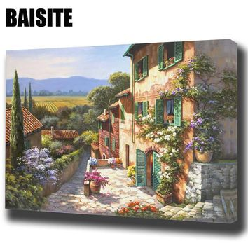 BAISITE Framed Landscape DIY Oil Painting By Numbers Painting&Calligraphy Wall Art Home Decor size 40*50cm E767