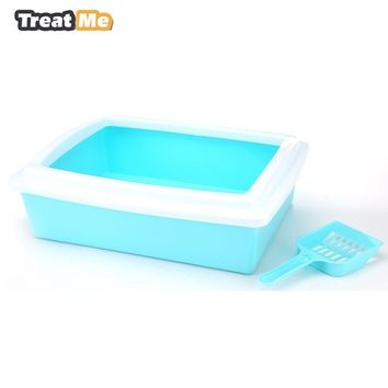 Stay Fresh Rimmed Assorted Litter Box with Scoop Multi-Cat