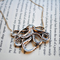 Octopus Necklace - Silver