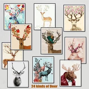 Deer DIY Paint By Numbers Kit: Includes Acrylic Paints, Brushes and Canvas. Pick from 24 Different Deer Prints