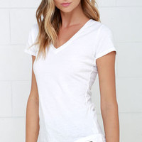 Z Supply The Perfect V White Tee