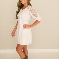 Girl Gone Country Peasant Dress - White