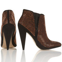 Pinstud Pointed Boots