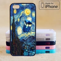 starry night, Doctor Who Phone Case For iPhone 6 Plus For iPhone 6 For iPhone 5/5S For iPhone 4/4S For iPhone 5C iPhone X 8 8 Plus