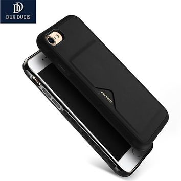 DUX DUCIS Case For iPhone 7 7 6plus Card Case Ultra Slim Credit Card Slots ID Holder Protection Cover for iphone 6 6s 7