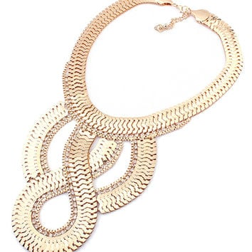 * Statement Necklace * Golden Twist Chunky Chain Necklace