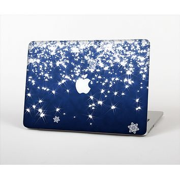 The Glowing White SnowFlakes Skin Set for the Apple MacBook Air 11""