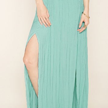 Contemporary Pleated Maxi Skirt