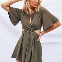 Mysterious Ways Playsuit (Khaki)