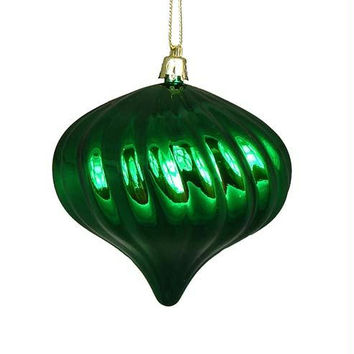 4 Shatterproof Onion Ornaments - Color:christmas Green