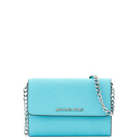 Jet Set Travel Crossbody Phone Bag, Aquamarine - MICHAEL Michael Kors