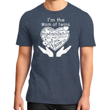 I am the mom of twins District T-Shirt (on man)