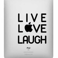 Live Love Laugh Ipad Decal | Luulla