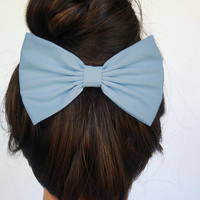 Blue Hair Bow for girls hairbows bows for hair accessories handmade Bow blue Hair Clips light blue hair bow for woman accessories fashion