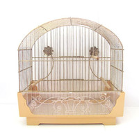 Vintage Metal bird cage ... large hanging cage