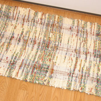 #Rag #Rug #hand made Upcycled #Recycled #Handwoven #loom #woven #RagRug sheeting
