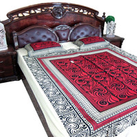 Tapestry Indian Bedding Red Cotton Bedspread Bohemian Throw