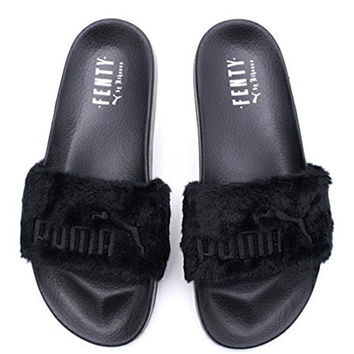 Women's Rihanna Leadcat Fur Slide Leadcat Fenty Sandals