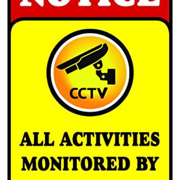 "All Activities Monitored By Video Camera 12""X18"" Aluminum/PVC Sign"