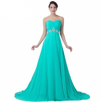 Charming A Line Turquoise Evening Dress
