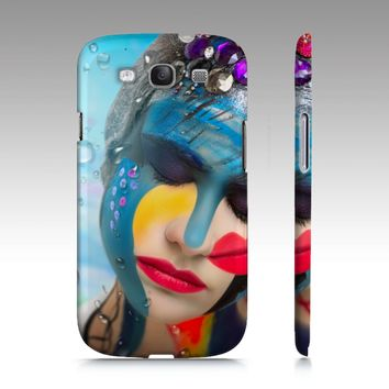Body Paint Art Lady Emotion Samsung S3 Cover