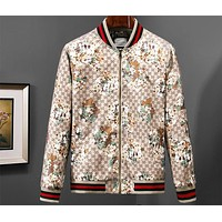 GUCCI fashion floral body print trend stand collar thin jacket F-A00FS-GJ