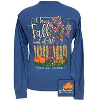 Girlie Girl I Love The Fall Long Sleeve T-Shirt