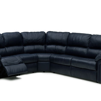 Leather Reclining Sleeper, Color Customizable Large True Sectional Sofa Daley by Palliser